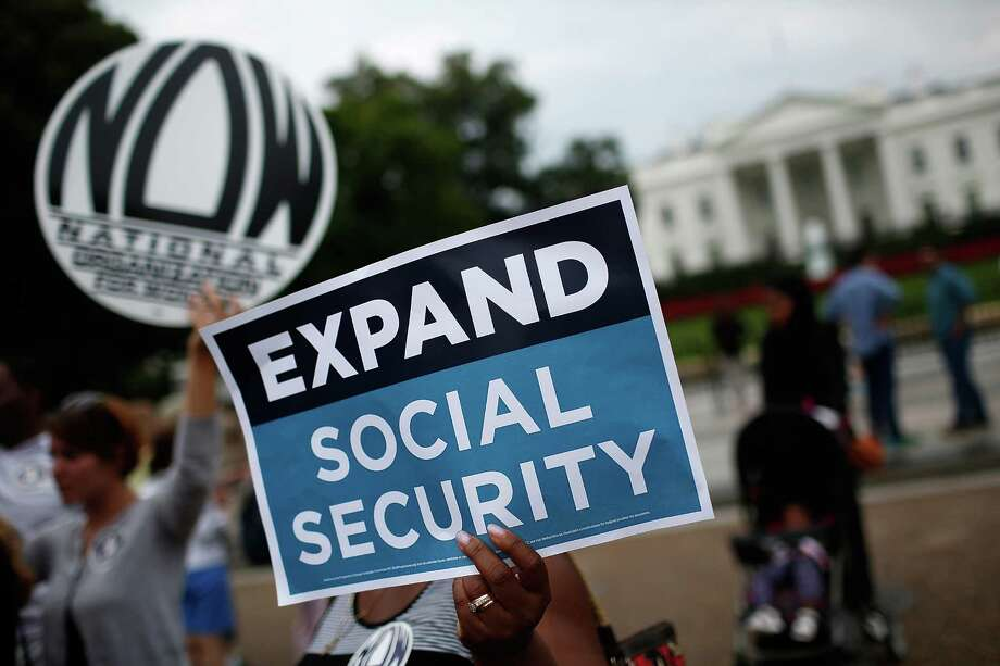 Activists in a recent rally near the White House urge the expansion of Social Security benefits, but the program is definitely not like a pension plan. Photo: Win McNamee, Staff / 2015 Getty Images