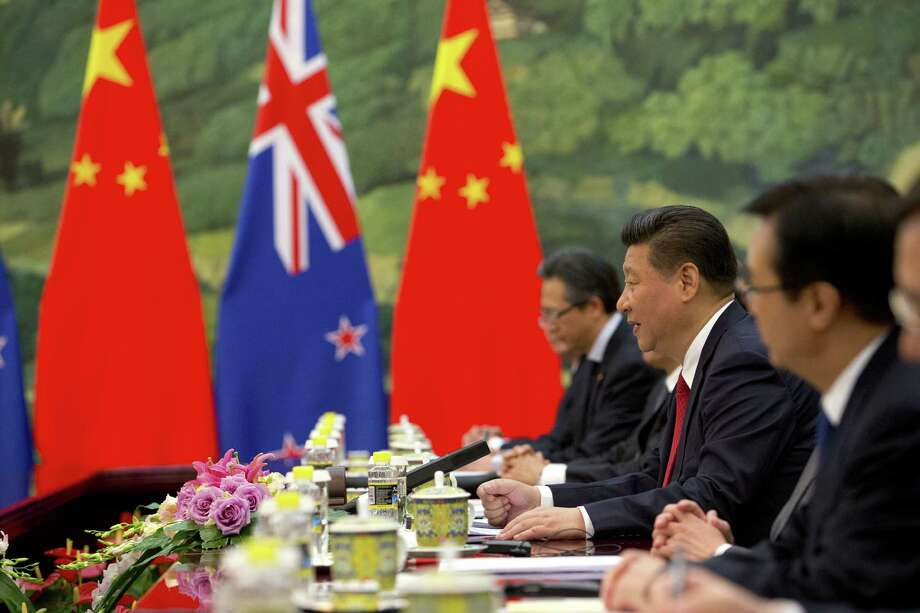The aggessive bent of Chinese General Secretary Xi Jinping, second from right, is worth watching. Photo: Pool / 2015 Getty Images