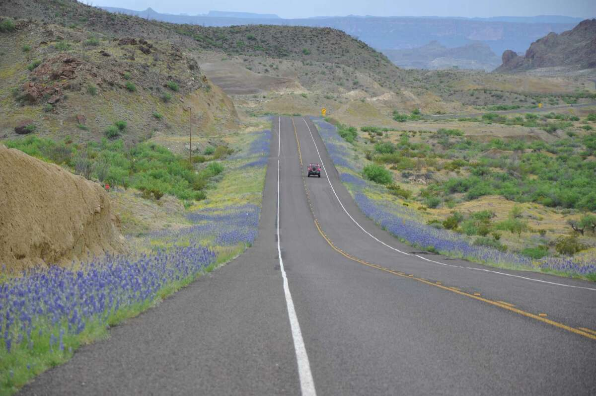 Road to Big Bend National Park, Texas.