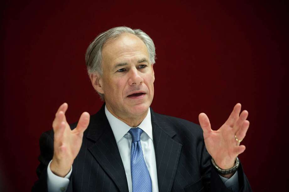 "Greg Abbott, governor of Texas, speaks during an interview in New York, U.S., on Tuesday, July 14, 2015. Since Texas won a court case allowing it to refuse Confederate flag license plates, the state has been ""in the vanguard"" on the debate over whether states should remove flags, Abbott said. Photographer: Michael Nagle/Bloomberg *** Local Caption *** Greg Abbott Photo: Michael Nagle / © 2015 Bloomberg Finance LP"