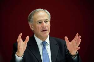 "Greg Abbott, governor of Texas, speaks during an interview in New York, U.S., on Tuesday, July 14, 2015. Since Texas won a court case allowing it to refuse Confederate flag license plates, the state has been ""in the vanguard"" on the debate over whether states should remove flags, Abbott said. Photographer: Michael Nagle/Bloomberg *** Local Caption *** Greg Abbott"