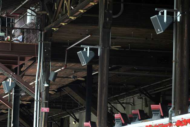 A new sound system in place for the 2015 season at Saratoga Race Course on Tuesday July 21, 2015 in Saratoga Springs, N.Y. (Michael P. Farrell/Times Union) Photo: Michael P. Farrell / 00032704A