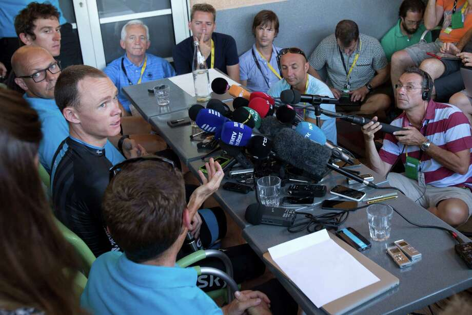Tuesday wasn't a rest day for Britain's Chris Froome, left, who offered a statistical analysis of his Tour-leading performance. Photo: Peter Dejong, STF / AP