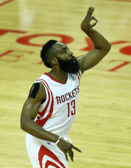 James Harden was the runner-up for the NBA's official MVP award. Photo: Karen Warren, Staff / © 2015 Houston Chronicle