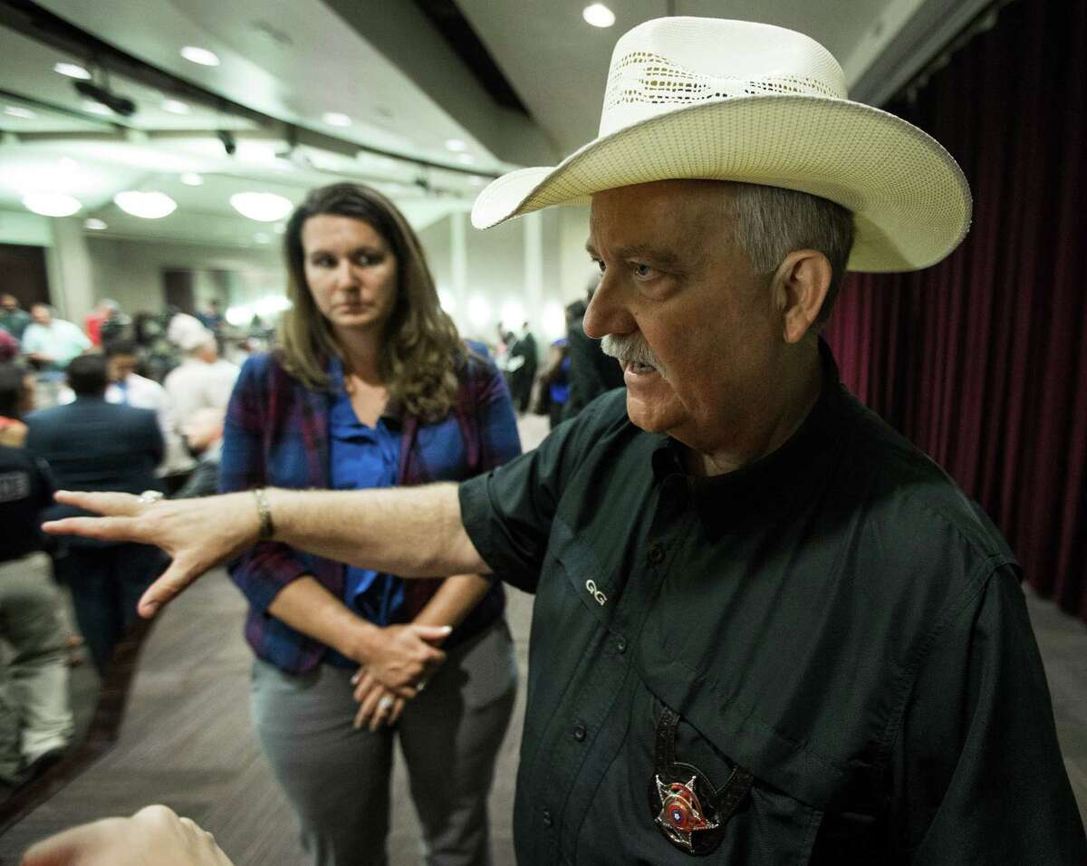 Waller County Sheriff R. Glenn Smith speaks following a news conference, July 21, 2015, in Houston.