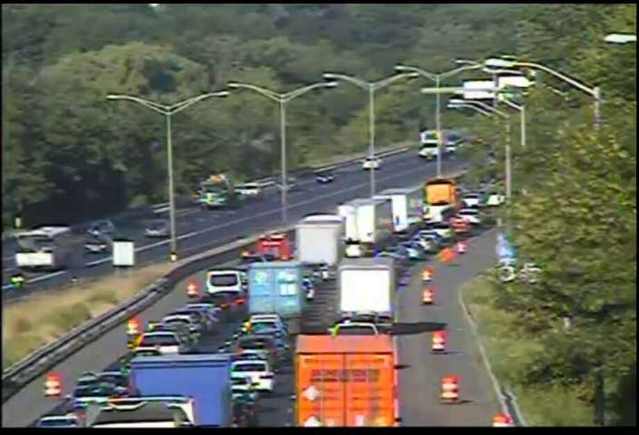 Interstate 84 at Exit 6 in Danbury. Traffic closest to the camera is traveling west. Photo: Connecticut Department Of Transportation