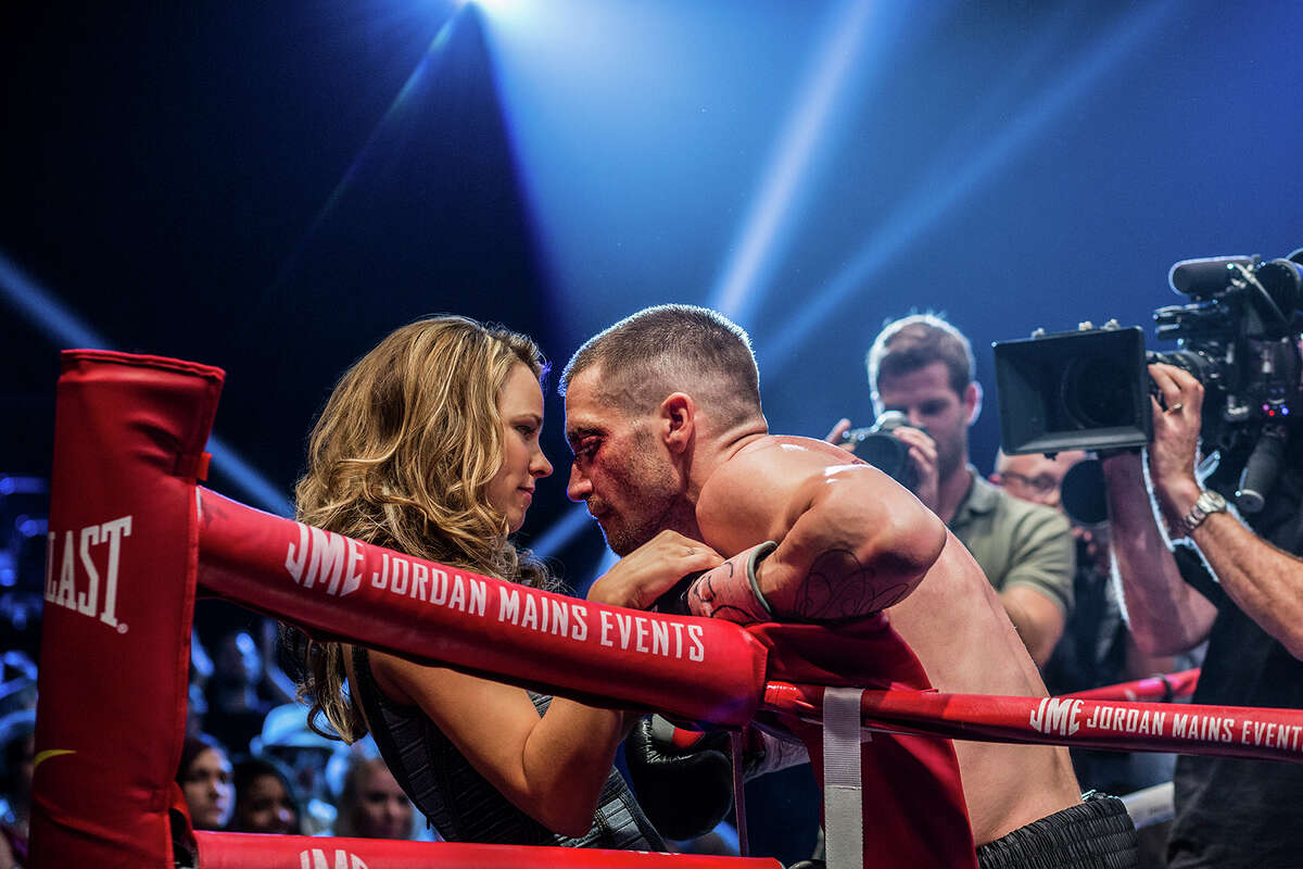 """Rachel McAdams exudes confidence as Maureen Hope, and Jake Gyllenhaal nails his performance as Billy Hope, who wants to fight the world, in """"Southpaw."""""""