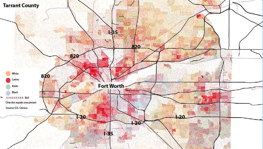 Maps Show Visible Racial Divides In Major Texas Cities Houston - Race maps of us cities