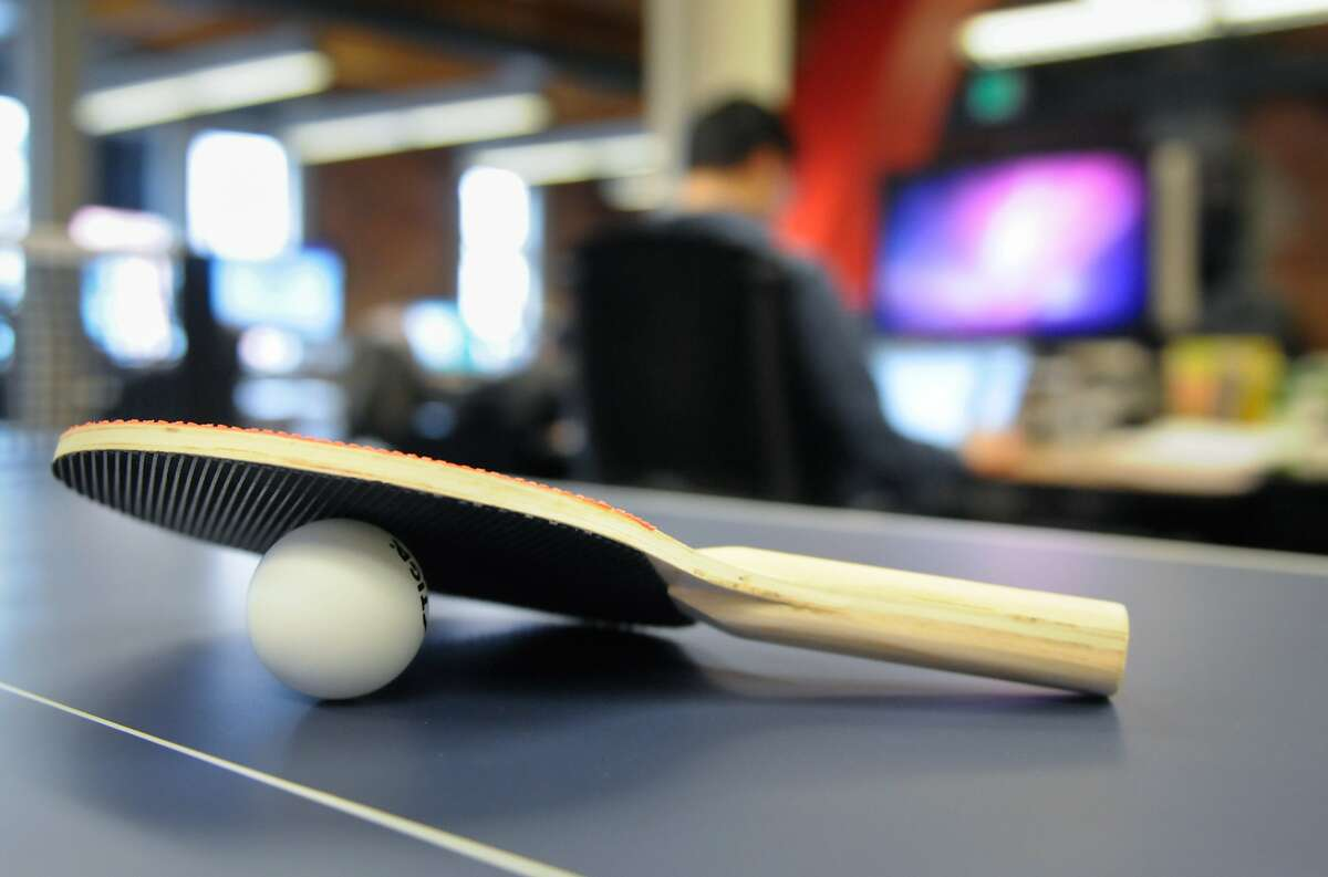 A small ping-pong table provides Hulu employees with some low-tech fun in an office filled with almost every gaming and video device available at the Hulu office in Seattle on Monday, Mar. 5, 2012. The office currently employs 13-15 people and has been open for a little over a year. (Photo by Lindsey Wasson)