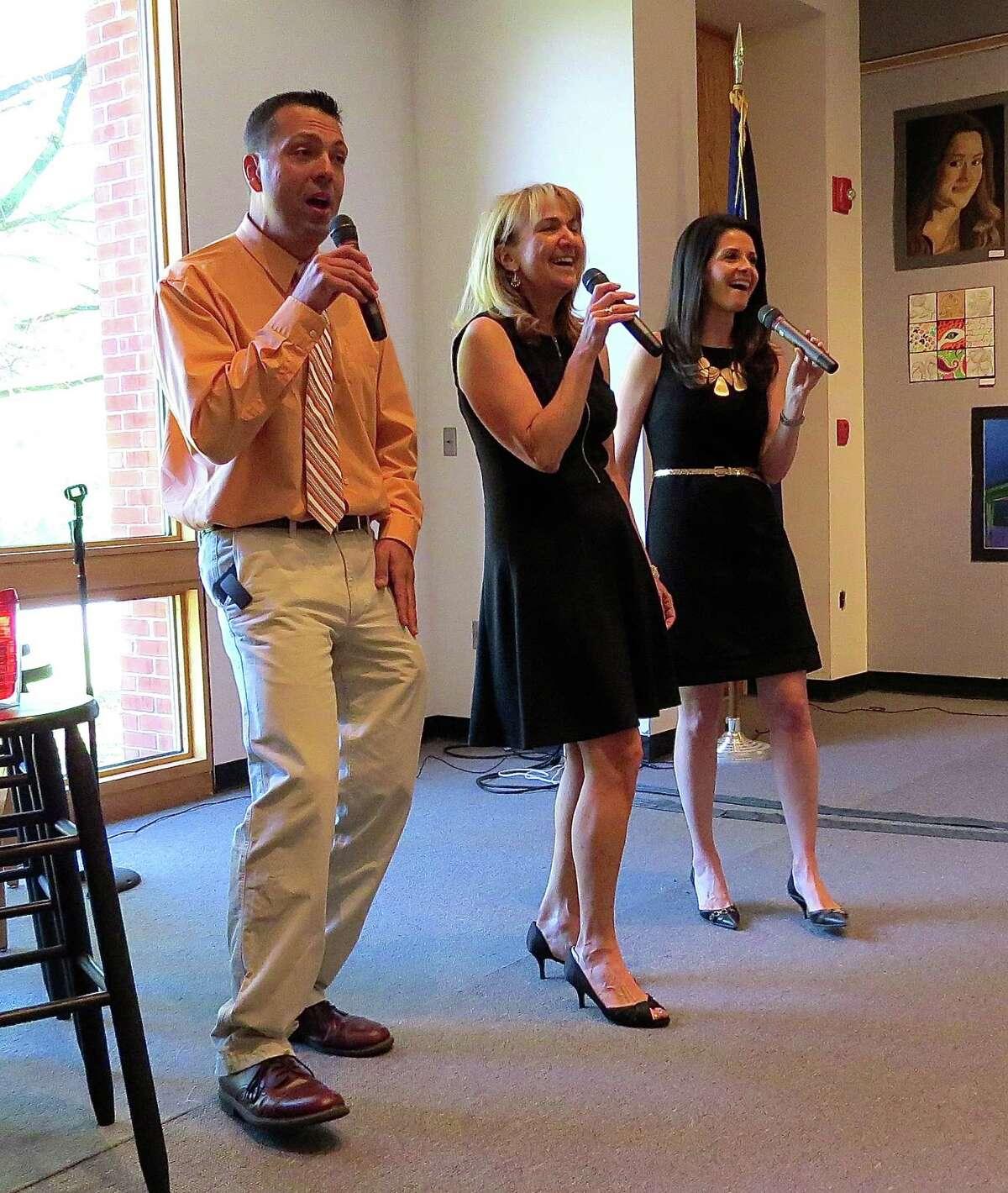 The Singing Anchors: Jerry Gretzinger, Benita Zahn and Jessica Layton.