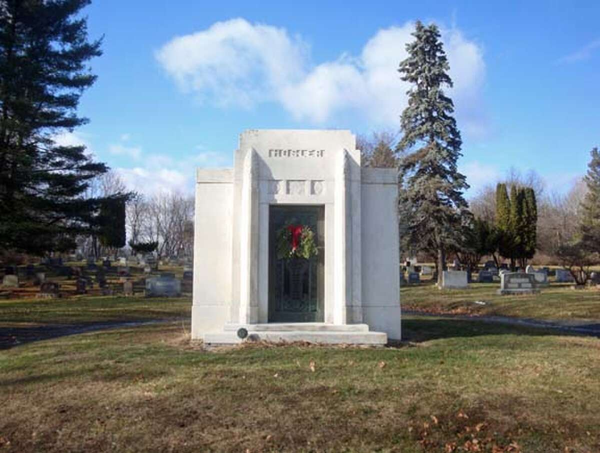 The Hosler Mausoleum at Albany Rural Cemetery in Menands. (FindAGrave.com)