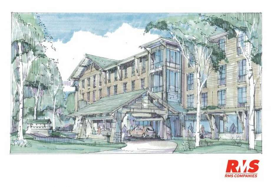 This rendering shows a specialty boutique hotel - Zero Degrees - that is being proposed for the city's west side by RMS Companies, a Stamford based developer Photo: Contributed