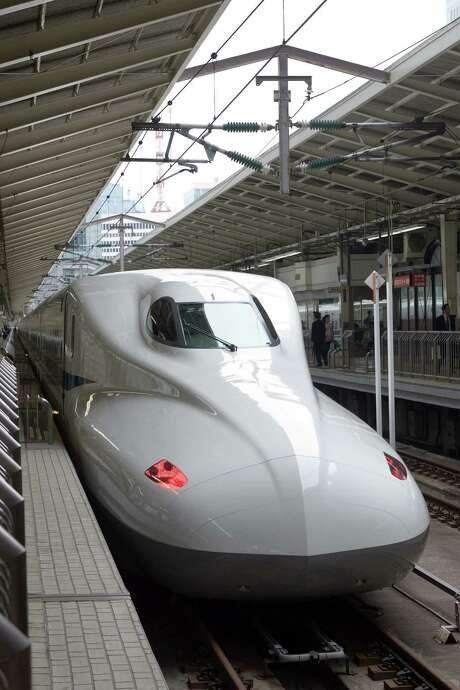 A Japanese N700 Series Shinkansen train, which will be employed on the Texas route planned by Texas Central Partners Photo: Texas Central Partners