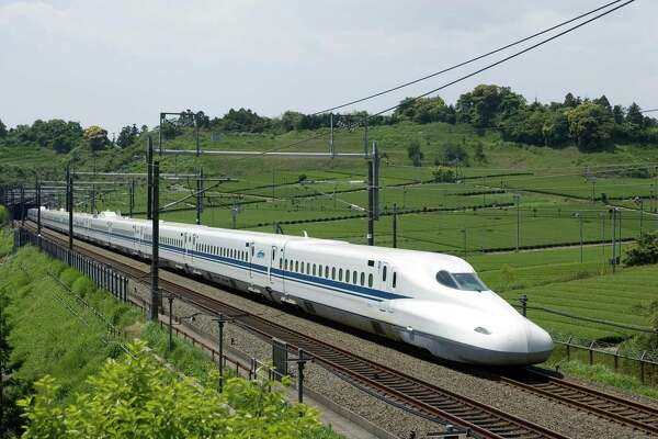 The Japanese N700 Series Shinkansen train, which will be employed on the Texas route as the nation's first bullet train.   Photo courtesy of Texas Central Partners