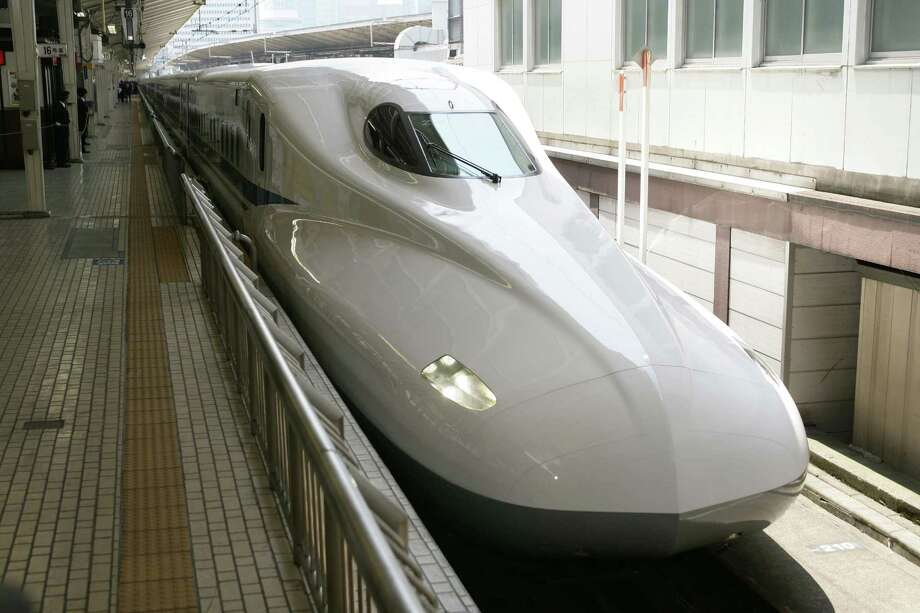 The Japanese N700 Series Shinkansen train, which Texas Central Partners proposes to use on the bullet-train route between Houston and Dallas.Photo courtesy of Texas Central Partners Photo: Texas Central Partners
