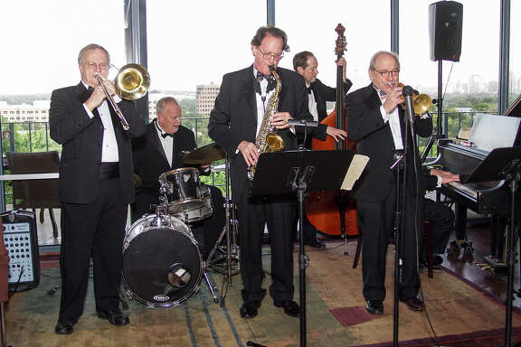 The Jim Cullum Jazz Band hosting Skyline Swing, an evening of swing dancing in the Skyline Room at Trinity University, Saturday, July 4, 2015.