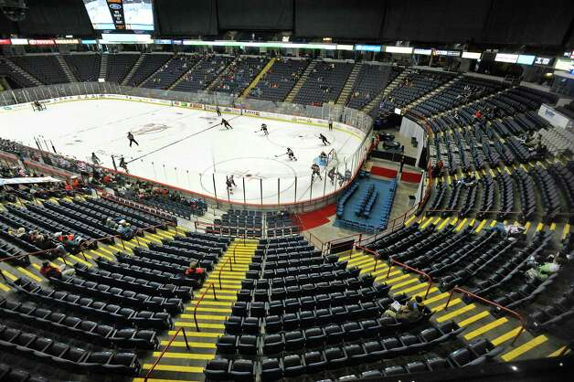 Many seats are empty at the Times Union Center during the Albany Devils and Binghamton Senators hockey game on Sunday, Jan. 26, 2014 in Albany, NY.   (Paul Buckowski / Times Union) Photo: Paul Buckowski