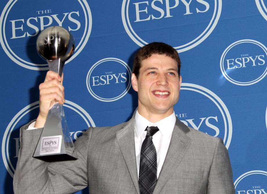 LOS ANGELES, CA - JULY 13:  NBA player Jimmer Fredette poses in the press room with award Best Male College Athlete at The 2011 ESPY Awards at Nokia Theatre L.A. Live on July 13, 2011 in Los Angeles, California.  (Photo by Frederick M. Brown/Getty Images) Photo: Getty Images