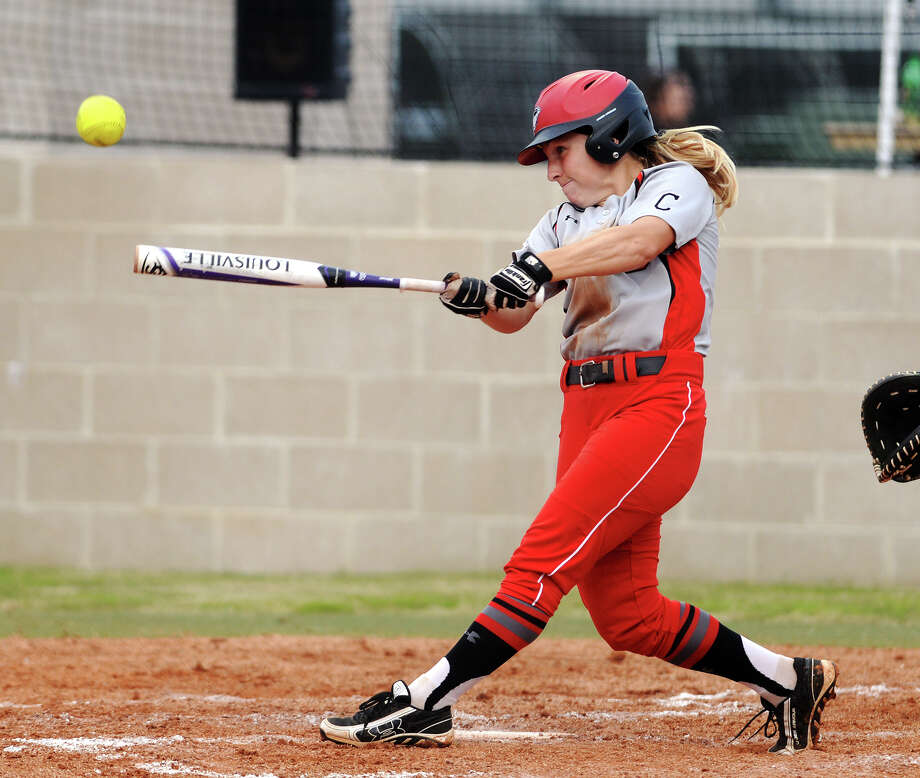 Former Lamar softball star Casey Cromwell has transitioned from player to coach and is currently serving as an assistant at IPFW. Lamar's Casey Cromwell, No. 11, connects with a pitch during Wednesday's game against Jackson State. The Lamar Lady Cardinals hosted the Jackson State Lady Tigers on Wednesday afternoon. Photo taken Wednesday 4/22/15 Jake Daniels/The Enterprise   Manditory Credit, No Sales, Mags Out, TV OUT, Web: AP Members Only Photo: Submitted Photo / ©2015 The Beaumont Enterprise/Jake Daniels