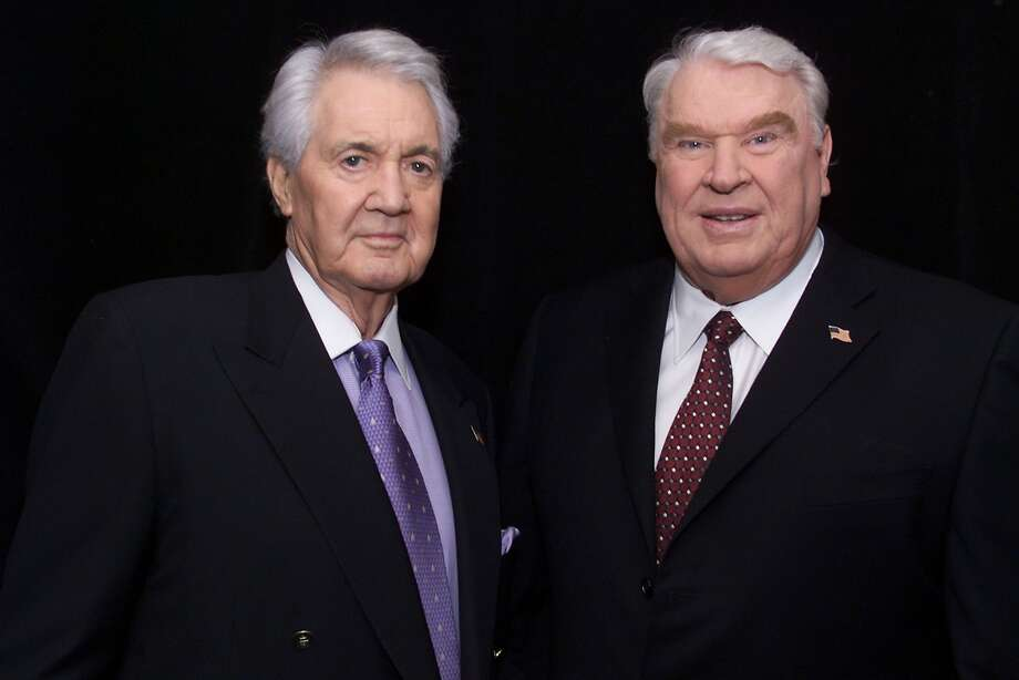 According to reports NFL broadcaster Pat Summerall has died at the age of 82.  Pat Summerall (left) and John Madden in the broadcast booth together for the last time at Super Bowl XXXVI at the Louisiana Superdome in New Orleans, LA., 2/3/02. Summerall is retiring after 21 years with Madden. Photo by Frank Micelotta/ImageDirect. Photo: Frank Micelotta, Getty Images