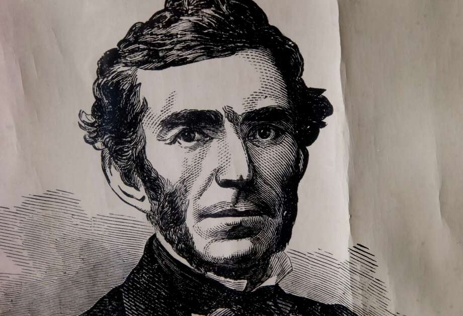 A portrait of General Braxton Bragg is kept in storage at the Guest House Museum in Fort Bragg, Calif. and not displayed to the public Tuesday July 21, 2015. There is little public support for a name change for Fort Bragg, California after various African American groups objected to the naming after a Confederate army general, Braxton Bragg. Photo: Brant Ward / The Chronicle / ONLINE_YES