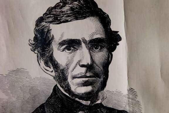 A portrait of General Braxton Bragg is kept in storage at the Guest House Museum in Fort Bragg, Calif. and not displayed to the public Tuesday July 21, 2015. There is little public support for a name change for Fort Bragg, California after various African American groups objected to the naming after a Confederate army general, Braxton Bragg.