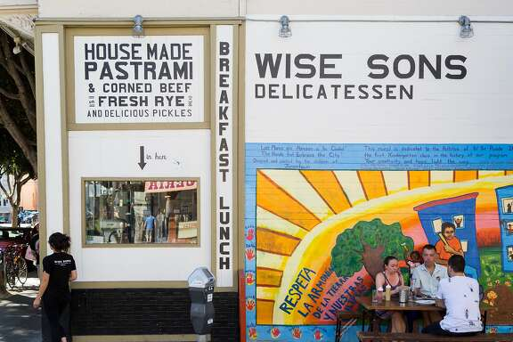 Outside dining at Wise Sons during brunch in San Francisco, Calif., Sunday, October 5, 2014
