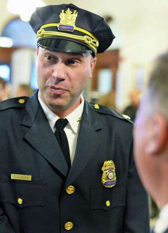 Commander Robert Sears at the swearing-in ceremony for new Police Chief Brendan Cox at Albany City Hall Wednesday July 22, 2015 in Albany, NY.   (John Carl D'Annibale / Times Union) Photo: John Carl D'Annibale / 00032714A