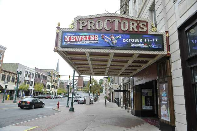 "A view of the ""Newsies"" sign on Proctor's, seen here on Monday, Oct. 13, 2014, in Schenectady, N.Y.   (Paul Buckowski / Times Union) ORG XMIT: MER2015072120393704 Photo: Paul Buckowski / 10029018A"