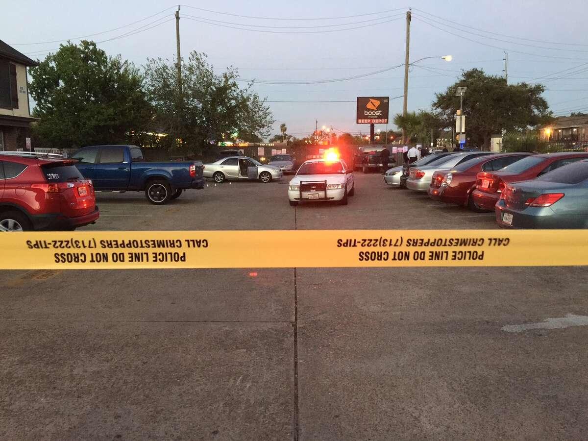 An HPD officer reportedly shot a man Wednesday evening at an apartment complex along Gulfton.