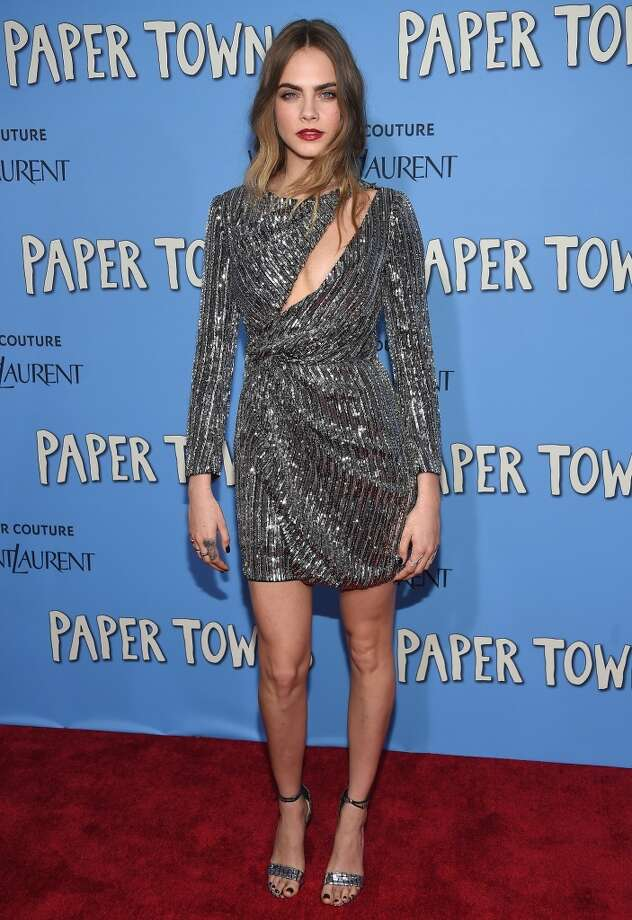 Actress Cara Delevingne attends the 'Paper Towns' New York Premiere at AMC Loews Lincoln Square on July 21, 2015 in New York City. (Photo by Dimitrios Kambouris/Getty Images)