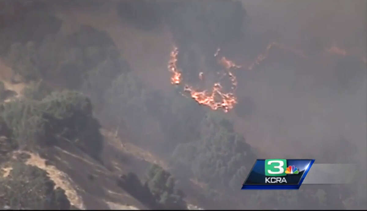A wildfire near Lake Berryessa that grew to threaten 150 homes and cause evacuations in the area.
