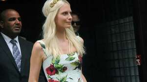 Model Poppy Delevingne seen in Tribeca on July 21, 2015 in New York City. (Photo by Bobby Bank/GC Images)