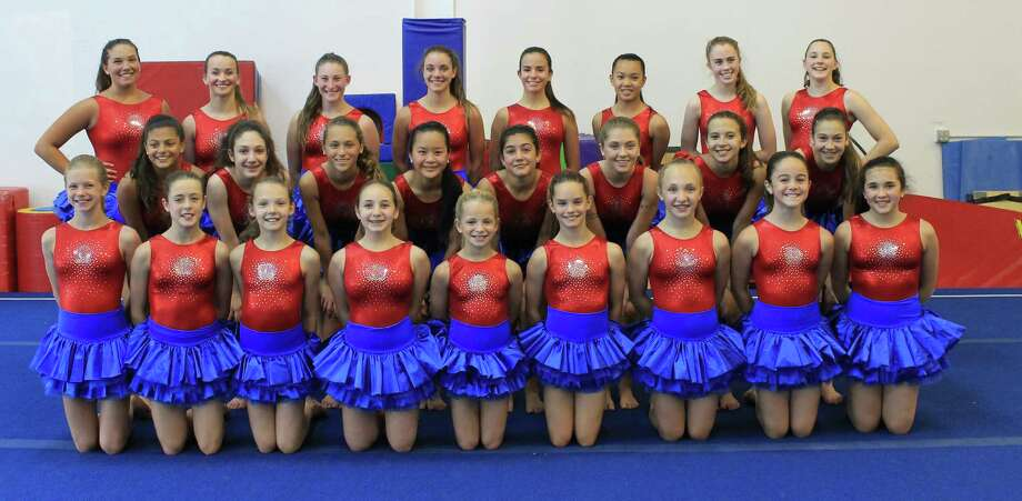 Members of the Family Y Gymnastics program competed in a worldwide festival in Helsinki, Finland earlier this month. Twenty-five girls spent two weeks at the event. Photo: Contributed Photo / Westport News Contributed
