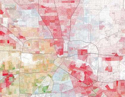 Maps show visible racial divides in major Texas cities