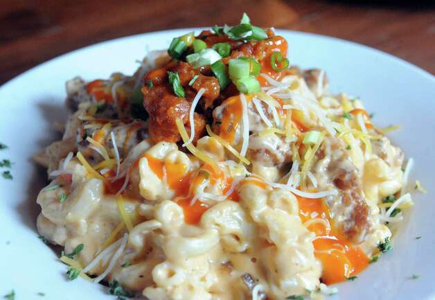 Buffalo mac and cheese at the Bull & Barrel Smokehouse at 155 Wade Road on Thursday July 16, 2015 in Latham, N.Y. (Michael P. Farrell/Times Union) Photo: Michael P. Farrell / 00032624A