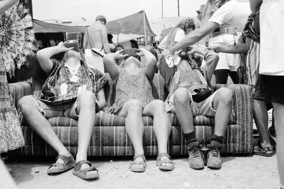 Birkenstock fans experience the 'LSD Flight Simulator' during a Grateful Dead concert in Las Vegas in 1993. Photo: Glyn Howells, Getty Images / 2007 Getty Images
