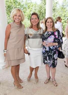Kathryn Hall, Shahpar Khaledi and Athena Blackburn at the Festival del Sole Brunello Cucinelli Luncheon on July 19, 2015.