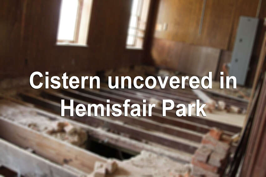 Keep clicking to view photos of a historic cistern found under Hemisfair Park's Halff House during historic preservation work in February 2015.