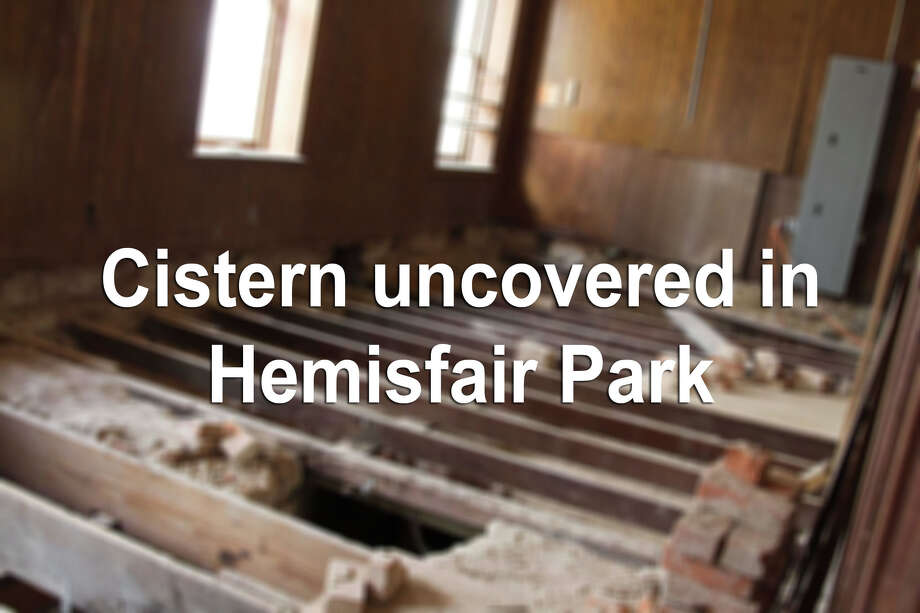 Keep clicking to view photos of a historic cistern found under Hemisfair Park's Halff House during historic preservation work in February 2015. Photo: File