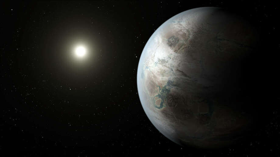 This artist's concept depicts one possible appearance of the planet Kepler-452b, the first near-Earth-size world to be found in the habitable zone of star that is similar to our sun. -NASA Photo: NASA Ames/JPL-Caltech/T. Pyle