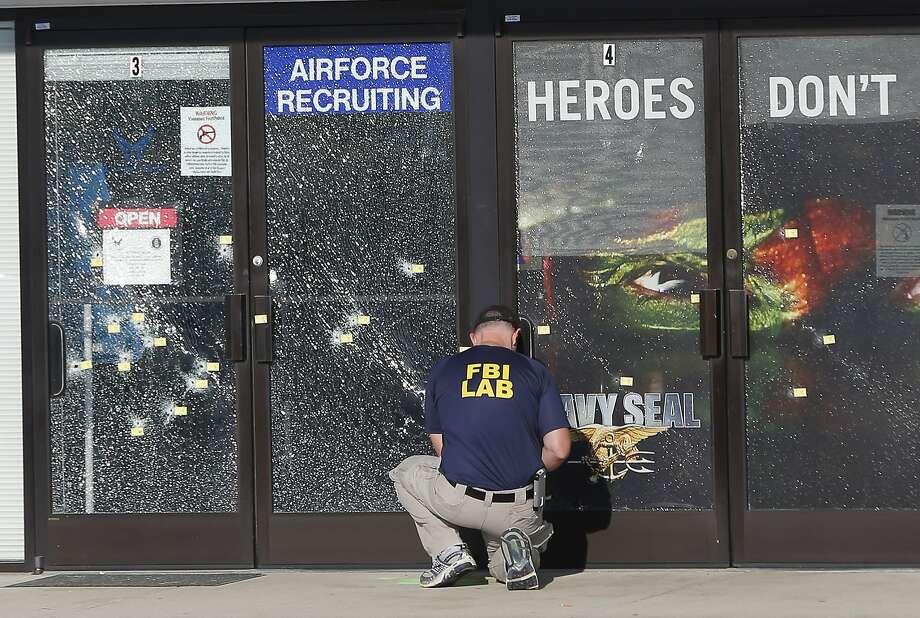 Chattanooga shooting scene. Photo: John Bazemore, Associated Press