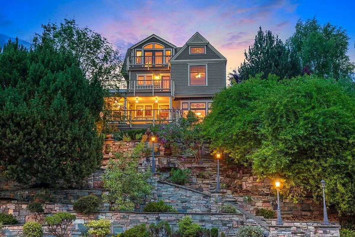 This home at 5722 E. Green Lake Wy. N. is listed for $2.4 million. Built in 1890, the seven bedroom, 7.75 bathroom home is spread over more than 5,000 square feet. According to the listing, it retains the original stained glass windows, grand staircase and solid oak doors. You can see the full listing here.