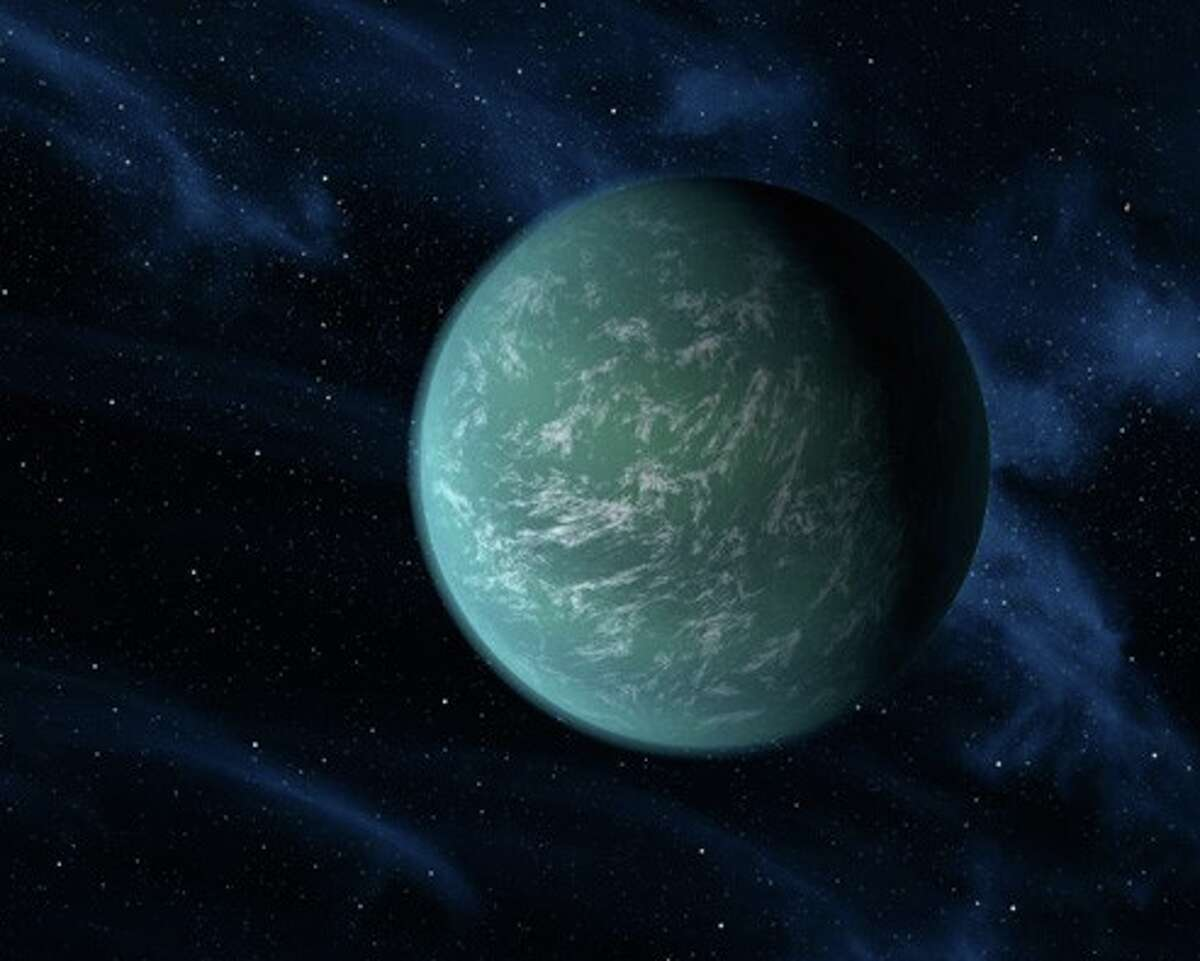 In March 2009, the space agency launched the Kepler Mission, a NASA Discovery program aimed to find life-supporting planets. In the first 16 months, Kepler discovered 2,326 potential planets. These discoveries can potentially increase the number of exoplanets (planets outside of our solar system) and raise the current count of 702. The image above is an artist's depiction of Kepler-22, the first exoplanet discovered during the Kepler mission to orbit in a star's habitable zone. This is our closest sister planet, as it may have liquid water on it like Earth. It is 2.4 times the size of Earth and is the smallest planet to orbit in the middle of the habitable zone of star like our sun.