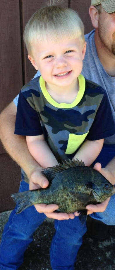 Young Gunner Norton just received his Toledo Bend Lake Record, Junior Angler Record and Big Fish Award for this great Sun Perch catch!