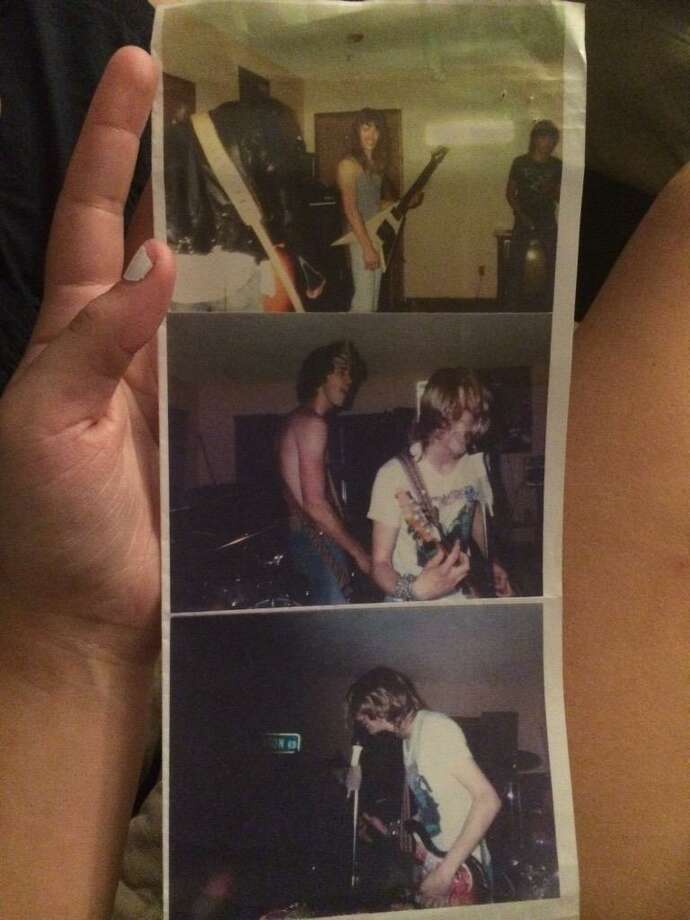 19-year-old Maggie Poukkula tweeted these photos July 15 of Nirvana jamming with her dad at his Raymond, Wash. house in 1987. The gig is said to be Nirvana's first show. Photo: Maggie Poukkula/Twitter