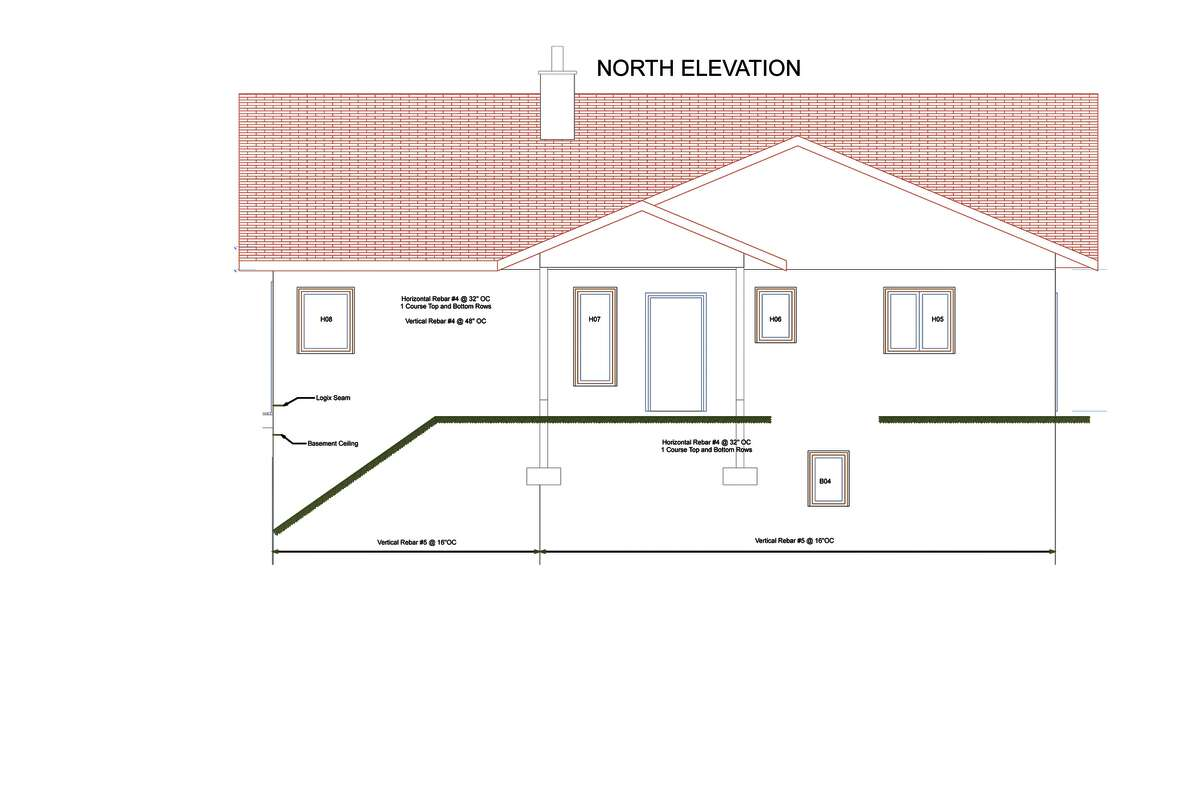 North Elevation of a home by Halfmoon Construction Company in Clifton Park specialize in high efficiency and zero energy homes. This particular home is located in Cambridge. (Courtesy Halfmoon Construction Company)