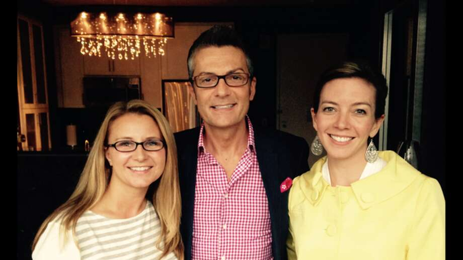 Stacy Jubert, RandyFenoli and Nicole Mattoon, marketing and web director at Bridal News.