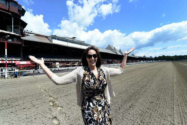 Lynn LaRocca, Chief Experience Officer out in front of her office this morning July 22, 2015, on the main track at the Saratoga Race Course in Saratoga Springs, N.Y.        (Skip Dickstein/Times Union) Photo: SKIP DICKSTEIN / 00032711A