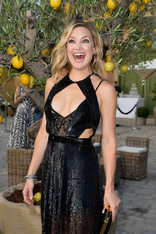Kate Hudson attends a cocktail reception during The Leonardo DiCaprio Foundation 2nd Annual Saint-Tropez Gala at Domaine Bertaud Belieu on July 22, 2015 in Saint-Tropez, France.  (Photo by Handout/Getty Images) Photo: Handout, Getty Images
